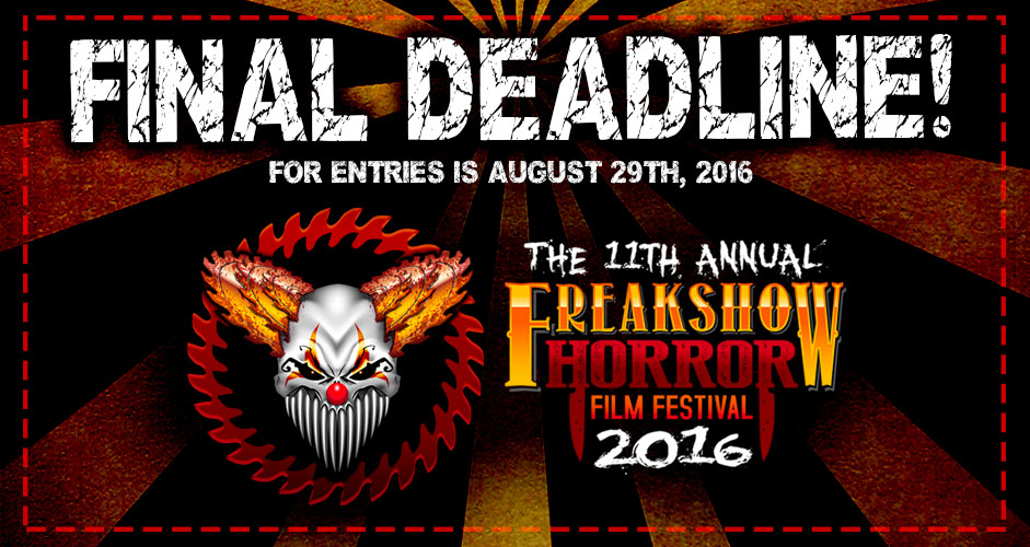 FINAL DEADLINE FOR ENTRIES!